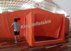 China Orange Custom PVC 8*6 M Giant  Inflatable Tents For Event Or Warehouse on sale