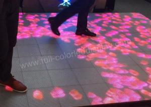 China DJ Disco LED Stage Floor Display P4.81 1R1G1B Wide Viewing Angle With Sensing Chips on sale