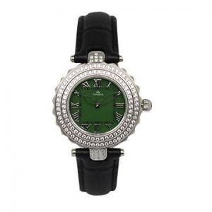 China OEM Steel Women Jewelry Watch Diamond Decoration Leather Band Wrist Watch on sale