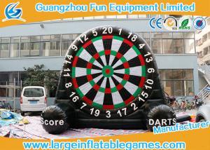 China Velcro Giant Inflatable Football Game Single Dart Board Soccer Football Dart on sale