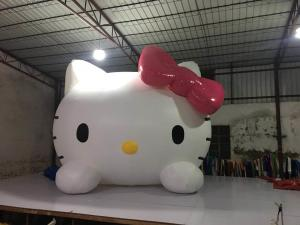 China Parties And Events Inflatable Advertising Signs / Hello Kitty Blow Up Cartoon on sale