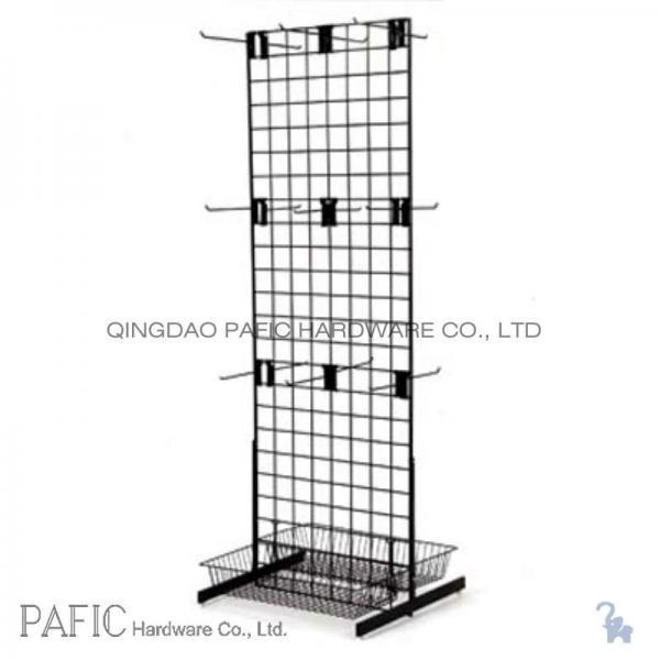 Peg Hook Wire Mesh Hanging Display Racks With Spray Painted 10-60kgs ...