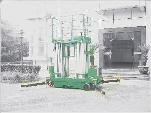 China 300kg Capacity Aerial Aluminum Work Platform Four Mast 14 Meter For Two Men on sale