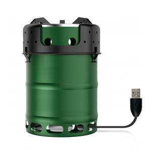 China fourneau portatif en bois de fourneau de camping de biomasse de nomado de fourneau de camp de vert d'armée d'ultrolight on sale