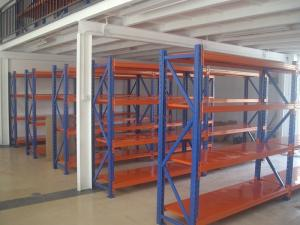 China Powder Coated adjustable selective pallet racking blue / gray warehouse shelving units on sale