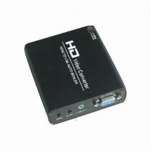 China HDMI to VGA Converter Adapter, Converts Digital HDMI/DVI Signals to VGA/Stereo Audio on sale