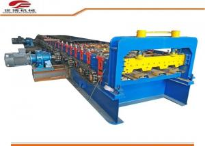 China Galvanized Color Steel Floor Deck Plate Roll Forming Machine / Forling Line on sale