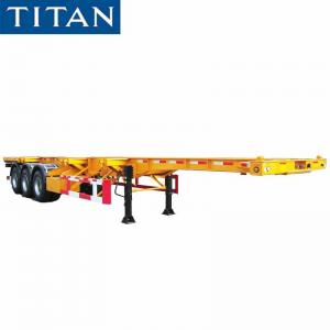 China Tri Axle Chassis 40ft Container Chassis Trailers for Sale in Nigeria on sale