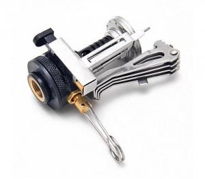 China Portable Outdoor Picnic Gas Burner Foldable Camping Mini Steel Stove Case on sale