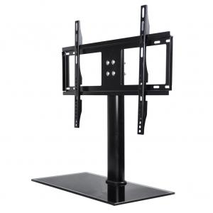 China Table Top TV Stand for most 32-65 inch TVs; Extra Tall Model Hold Up to 110 lbs on sale