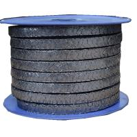 China Radiation Resistant Coiled 4x4mm Flexible Graphite Packing on sale