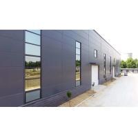 Sand Blasting Steel Frame Industrial Garage With Aluminium Glass Sliding Windows