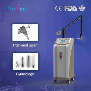 China 1~100ms co2 fractional laser skin lift for wrinkle removal newest technolog resurfacing 3 vaginal treatment probe on sale