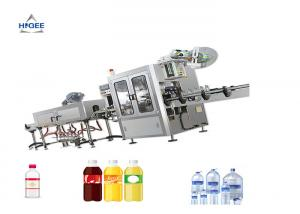 China Shrink Sleeve Wine Bottle Filling Capping And Labeling Machine Double Head on sale