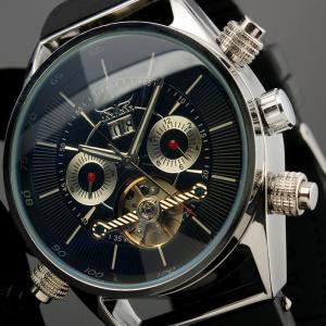 China 100g Silicone Mens Automatic Watch Silver Case With Tourbillion Cage on sale