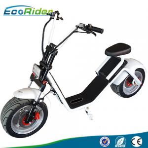 China EcoRider 1200W 50KM Range 2 Wheel Electric Scooter with Front Suspension for Adult on sale