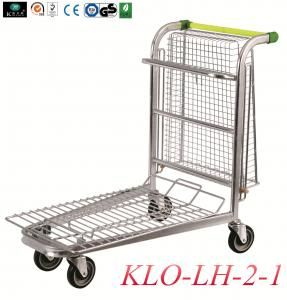 China Lightweight 4 Wheel Trolley For Warehouse With Folding Basket Large Load 150KGS on sale