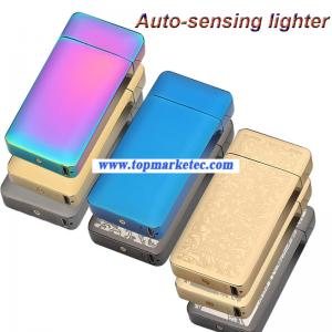 China automatic cigarette lighter Double ARC pulse usb charging lighter on sale
