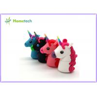 China Promotional Unicorn Real Capacity Horse Pen Drive , Micro Usb Memory Stick Minion on sale