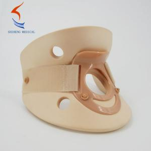 China Cervical traction device skin color easy use plastic foam material Philadelphia collar brace on sale