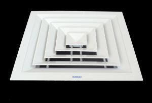 China Three way aluminium air diffuser(air conditioning diffuser,square diffuser) on sale