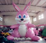 5m Height Large Outdoor Inflatable Rabbit Model for Easter decor