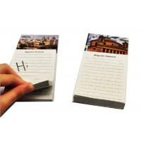 China Wood Free Personalized Memo Pads 126 Mm * 76 Mm Fridge Magnet Notepad on sale