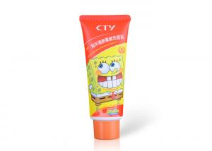 China Matt Squeeze Plastic Hand Lotion Tubes , Orange Lotion Tube Containers 2.82 OZ /80ml on sale