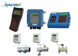 China Wall Mount Fixed Handheld Ultrasonic Flow Meter For DN15 - 6000 Pipe Easy Installation on sale