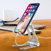 China COMER adjustable mobile phone Desktop metal stand holder support for home / office entertainment on sale