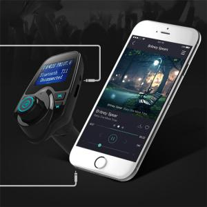China Hotsale Bluetooth FM Transmitter 5V 2.1A Wireless In-Car FM Transmitter Radio Adapter Car Kit  Car MP3 on sale