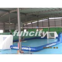 inflatable giant football playgrounds with customized logo for commercial use