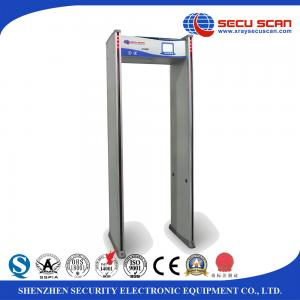 China Waterproof Metal Detector Gate Door Frame 24 Multizones 80V - 250V on sale