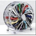 China Round Floor Boot / Shoe Display Racks Plastic Iron For Home wholesale