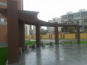 China Fire Proof Ecology Prefab Leisure WPC Garden Pergola CE SGS ISO , Outdoor Pergola on sale