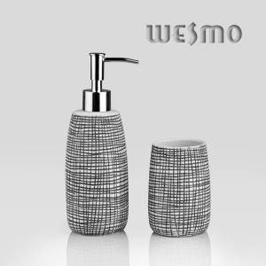 China Black Color Full With Unordinary Small Checks Porcelain Bath Accessories (WBC0644B) on sale