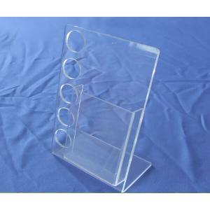 China customize L shape clear acrylic brochure holder on sale