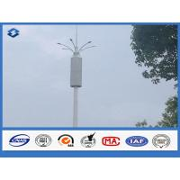 Baseplate ASTM A 633 GRE Communication Pole 6 / 8 side 20 - 56 meters high