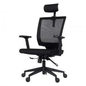 China Smart  black grey blue ergonomic office chair with headrest  armrest on sale