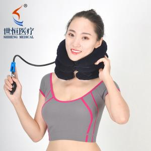 China Adjustable cervical pillows free size neck brace support soft flannel on sale