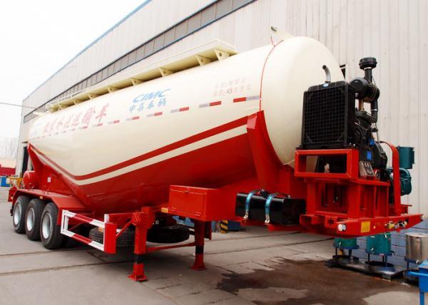 CIMC frac bulk cement pneumatic sand tank hauling trailer top