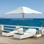 Textilene Sun bed S shape single bed for Hotel, Garden and Beach by Clover Lifestyle Outdoor Furniture China