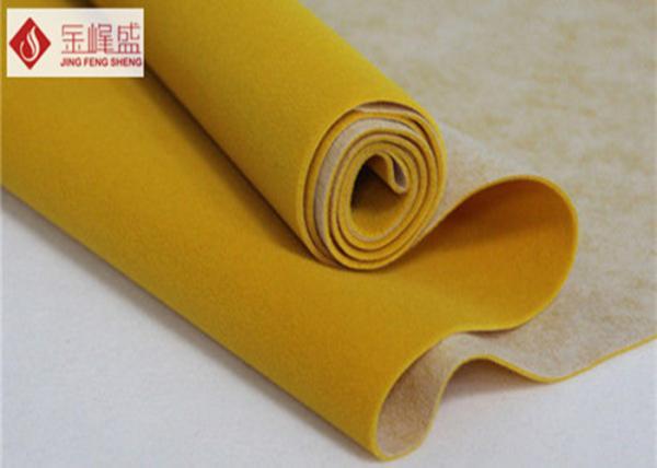 Non Woven Jewelry Box Liner Fabric Dark Yellow Spunlace Flocking