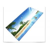 Quick Drying Microfiber Beach Towel , Sports Beach Towels With Square Shaped