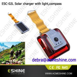 China Led light mini solar charger| solar cell phone charger |cell phone charger on sale