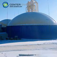 Blue Bolted Steel Anaerobic Digester Tank For Biogas Production
