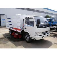 95HP Dongfeng 4X2 Street Sweeper Vacuum Truck , 5CBM City Street Sweeper Truck