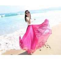 China Multiply color Women Girls Chiffon pleated Maxi Long Skirt on sale