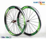 China 50mm Clincher Bicycle Aluminum Road Bike Wheels With Mrcarbon Logo wholesale