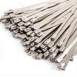 4.6X200mm SS304 Self Locking Stainless Steel Cable Ties Customizable Thickness